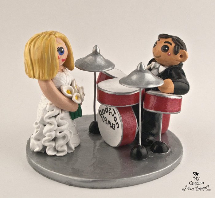 drum wedding cake toppers groom custom wedding cake toppers 13758