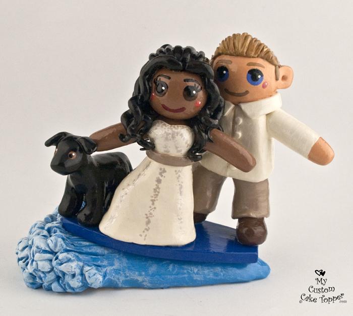Bride Groom Custom Wedding Cake Toppers