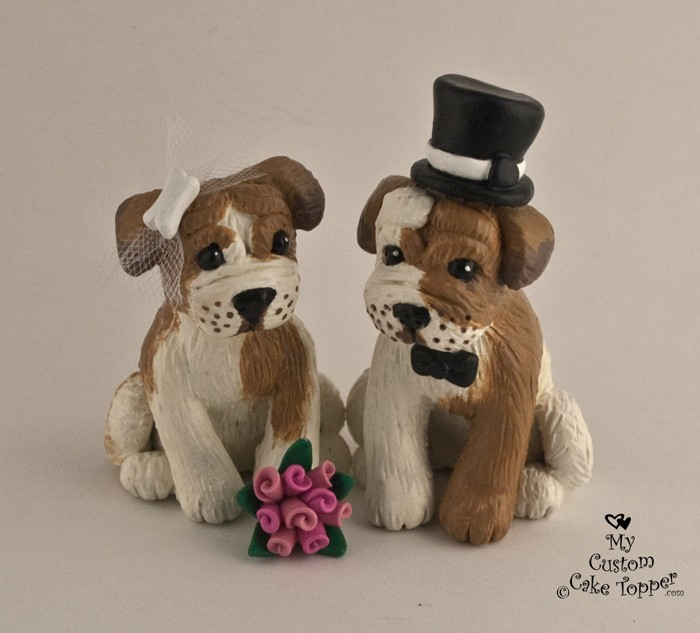 custom wedding cake toppers with dogs wedding cake toppers my custom cake topper 13262