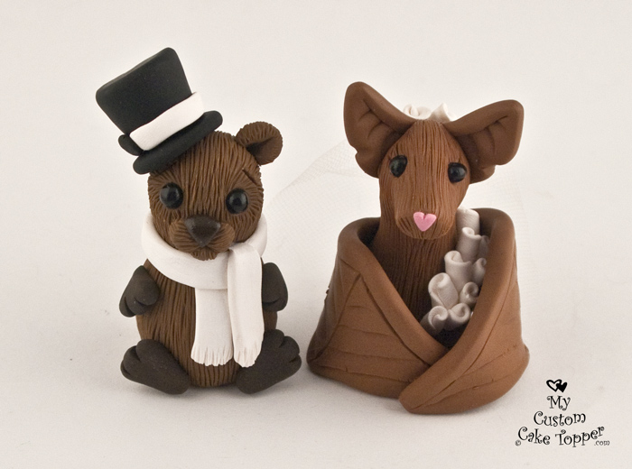 cute animal wedding cake toppers animal wedding cake toppers my custom cake topper 13267