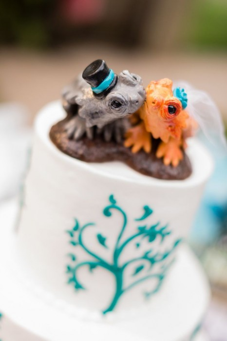 Bearded Dragon Wedding Cake Topper