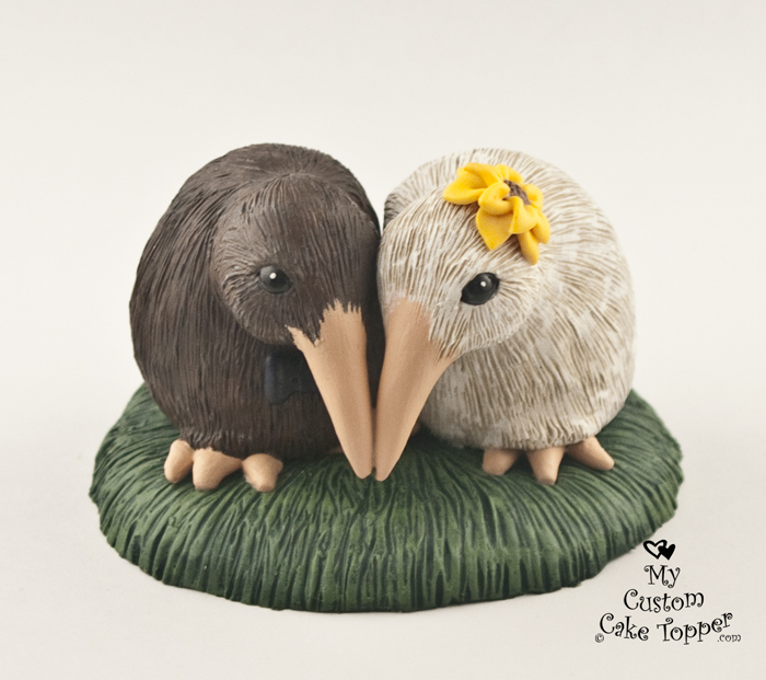 Kiwi Love Birds Wedding Cake Topper My Custom Cake Topper