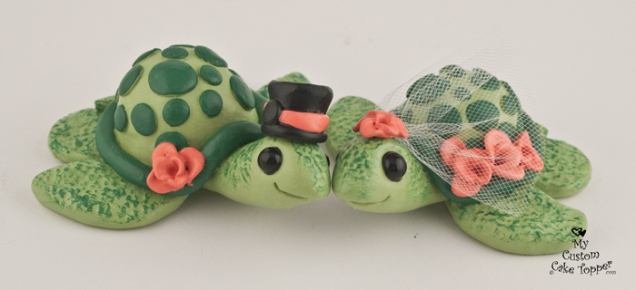 turtle wedding cake toppers turtles custom wedding cake topper my custom cake 21320