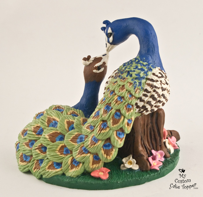 peacock wedding cake topper bird wedding cake toppers my custom cake topper 18161