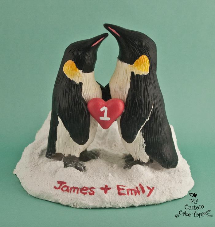 Realistic Penguins Wedding Cake Topper - My Custom Cake Topper