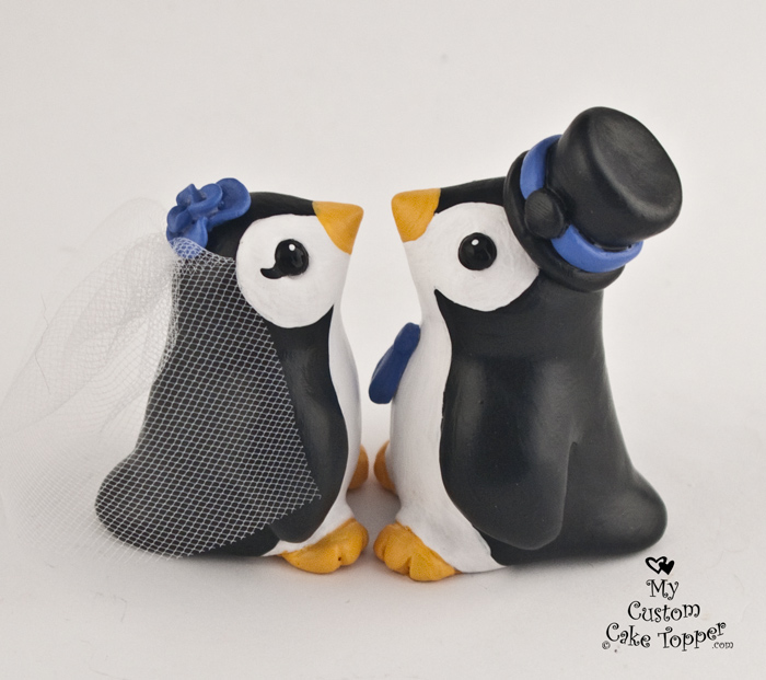 penguin cake toppers wedding bird wedding cake toppers my custom cake topper 6441