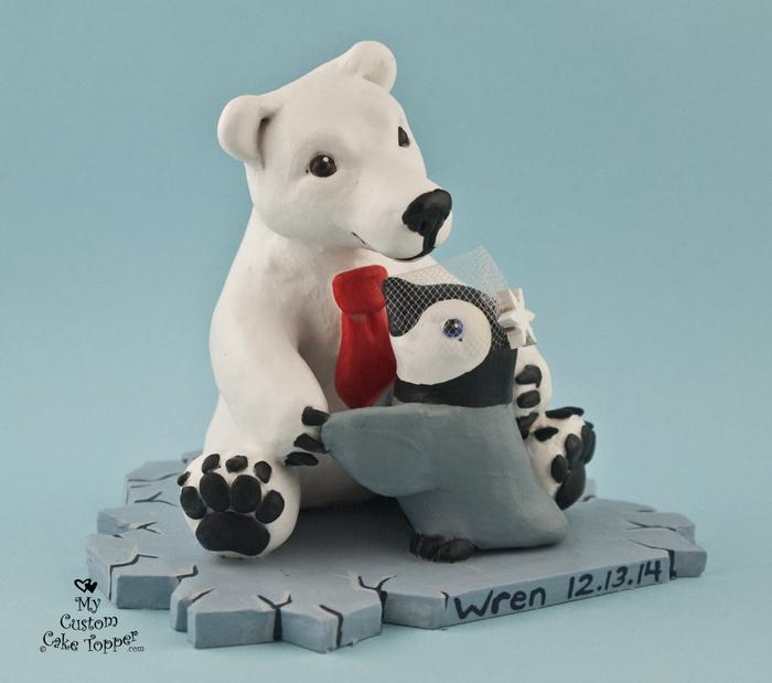 Bear Cake Wedding Topper