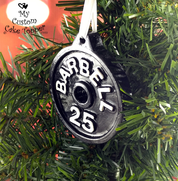 barbell plate christmas ornament crossfit strongman powerlifting weight lifting weightlifting