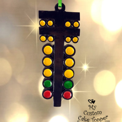 drag racing christmas tree light racing ornament drag