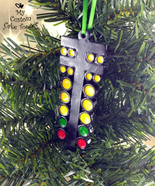 drag racing christmas tree light racing ornament drag