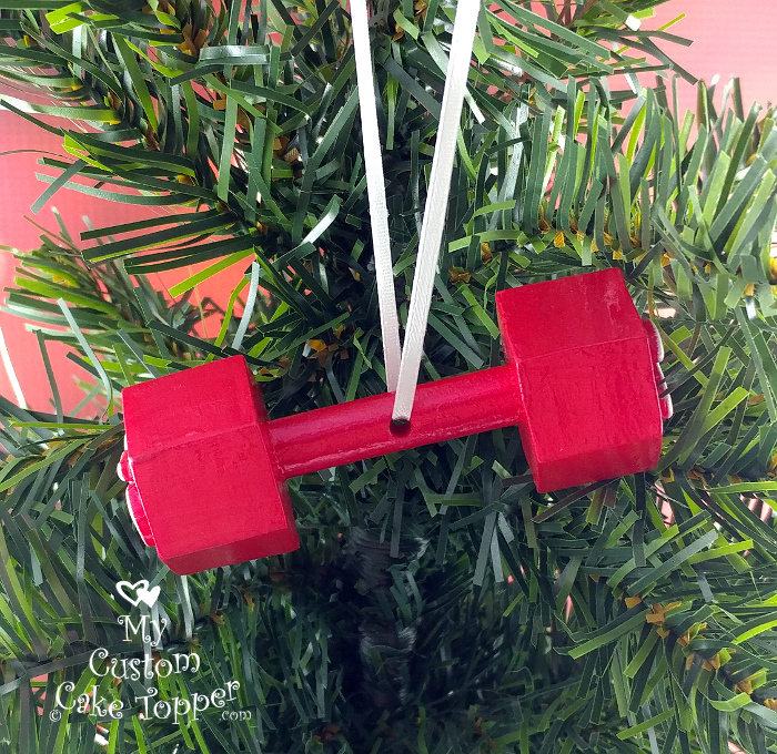 dumbbell weight christmas ornament crossfit powerlifting weight lifting weightlifting fitness
