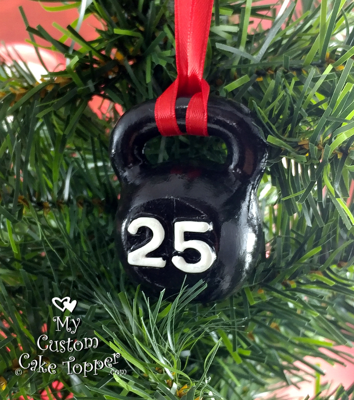 kettlebell black christmas ornament fitness crossfit exercise